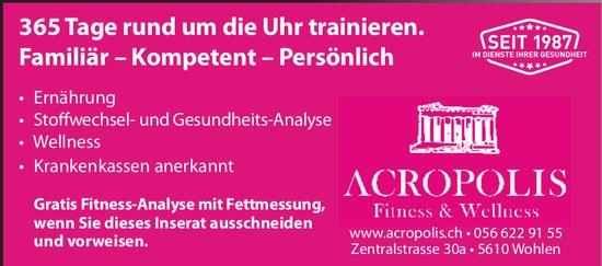 Acropolis Fitness & Wellness in Wohlen