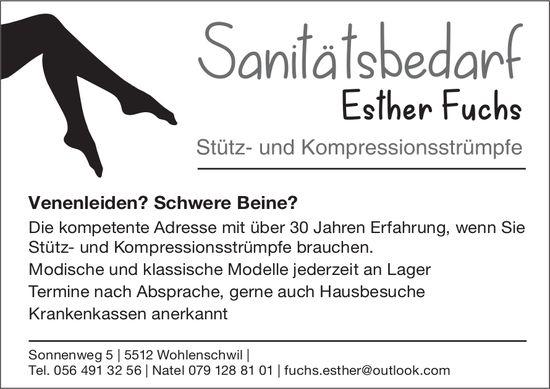 Sanitätsbedarf Esther Fuchs in Wohlenschwil