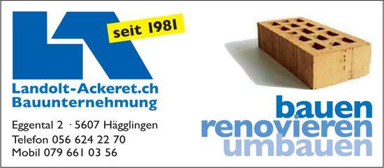 Landolt-Ackeret Bauunternehmung in Hägglingen