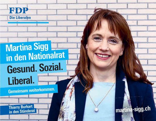 Martina Sigg in den Nationalrat