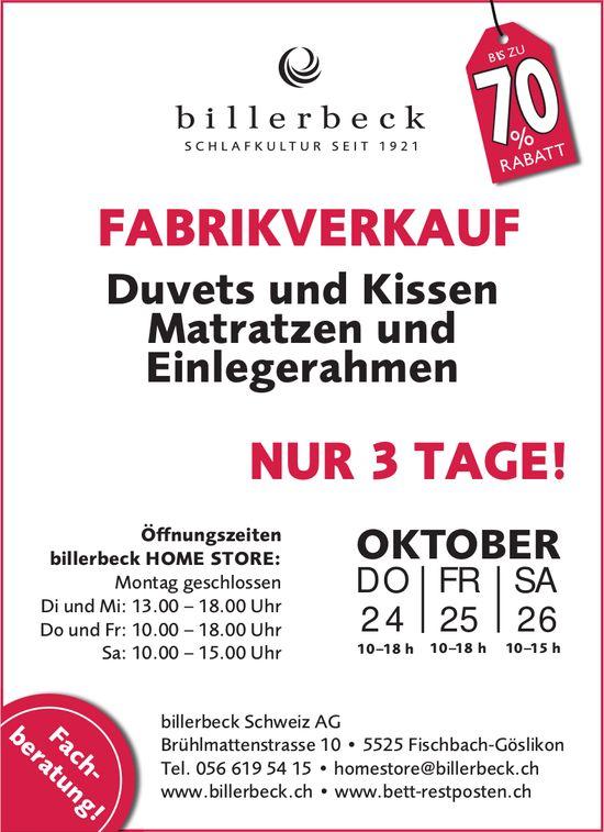 Billerbeck AG in Fischbach - Fabrikverkauf