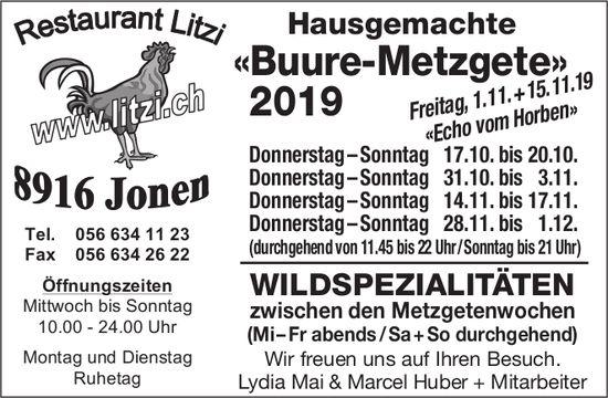 Buure-Metzgete im Restaurant Litzi in Jonen