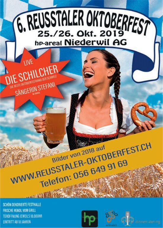 6. Reusstaler Oktoberfest 25./26 Oktober in Niederwil