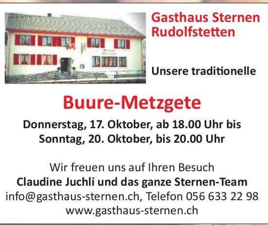 Gasthaus Sternen in Rudolfstetten - Buure-Metzgete