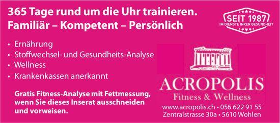 Acropolis Fitness & Wellnes in Wohlen