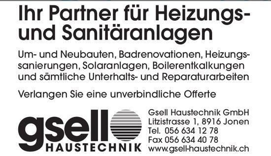 Gsell Haustechnik GmbH in jonen - Ihr Partner für Heizungs- und Sanitäranlagen