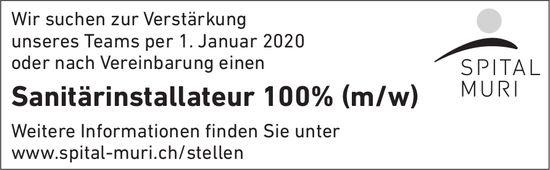 Sanitärinstallateur 100% (m/w) gesucht