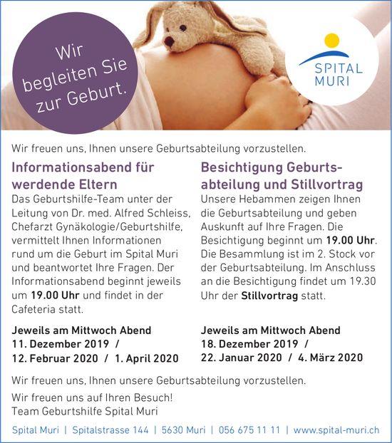 Informationsabend für werdende Eltern im Spital Muri
