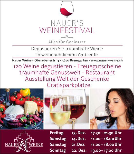 Nauer's Weinfestival in Bremgarten