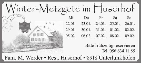 Winter-Metzgete in Unterlunkhofen