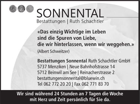 Bestattungen Sonnental Ruth Schachtler GmbH, Menziken & Beinwil am See