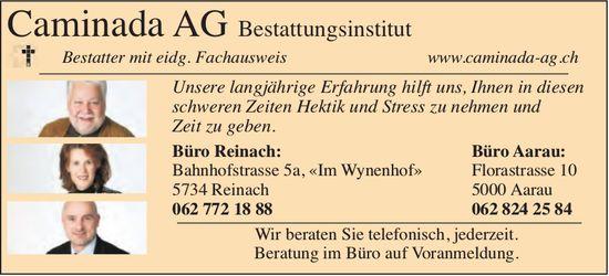 Bestattungsinstitut Caminada AG, Reinach & Aarau