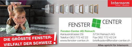 Fenster-Center AG Reinach - Die grösste Fenster-Vielfalt der Schweiz!