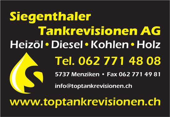 Siegenthaler Tankrevisionen AG, Menziken - Heizöl, Diesel, Kohlen & Holz