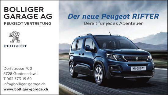 BOLLIGER GARAGE AG, Gontenschwil - Der neue Peugeot RIFTER