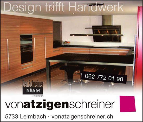VonAtzigen Schreiner, Leimbach - Design trifft Handwerk