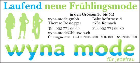 Wyna Mode GmbH, Reinach - Laufend neue Frühlingsmode