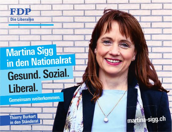 Martina Sigg in den Nationalrat - Gesund. Sozial. Liberal.