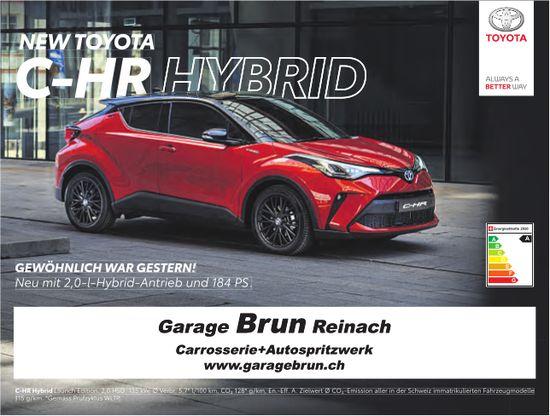 Garage Brun, Reinach - NEW TOYOTA C-HR HYBRID