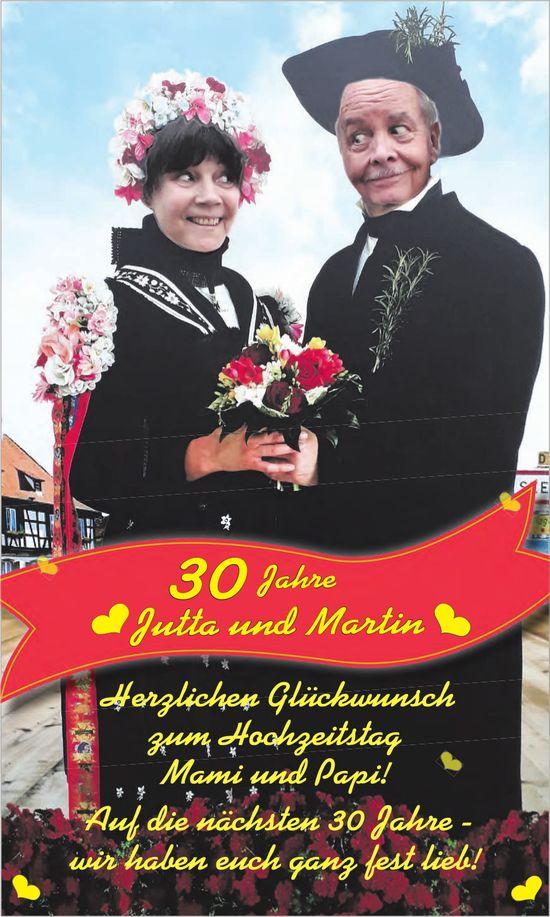 30 Jahre ❤ Jutta und Martin