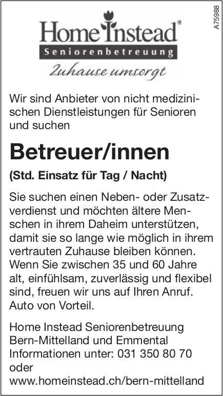 Betreuer/innen, Home Instead Seniorenbetreuung Bern-Mittelland und Emmental, gesucht