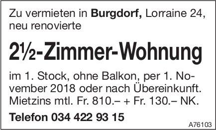 2.5-Zimmer-Wohnung, Burgdorf, zu vermieten