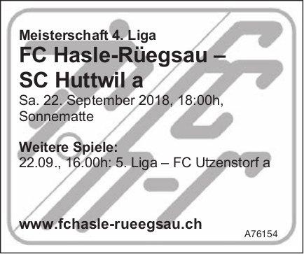 Spiel FC Hasle-Rüegsau – SC Huttwil a, 22. September, Sonnematte