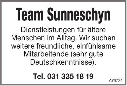 Mitarbeitende bei Team Sunneschyn, Dienstleistungen für ältere Menschen im Alltag gesucht