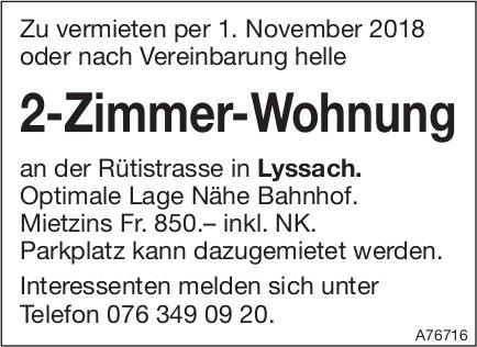 2-Zimmer-Wohnung in Lyssach zu vermieten