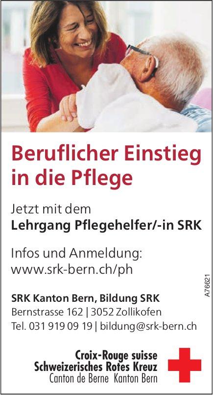 SRK Kanton Bern, Bildung SRK - Lehrgang Pflegehelfer/-in SRK