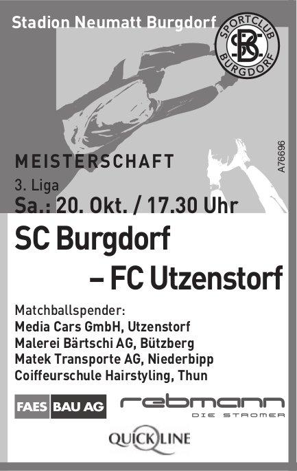3. Liga SC Burgdorf – FC Utzenstorf am 20. Oktober
