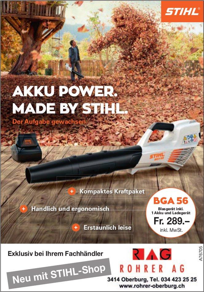 ROHRER AG - AKKU POWER. MADE BY STIHL.