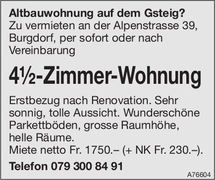 4½-Zimmer-Wohnung in Burgdorf zu vermieten