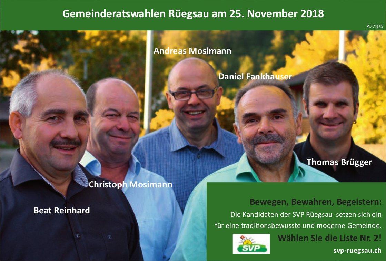 GemeinderatswahlenRüegsauam 25. November 2018