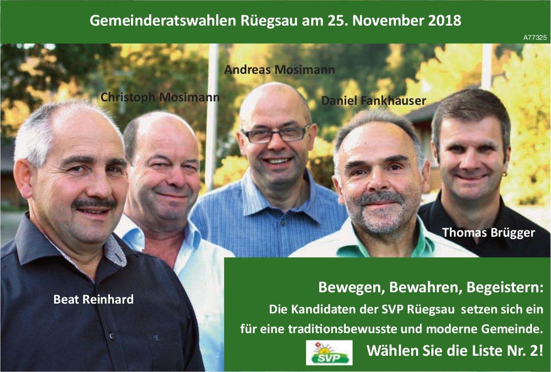 GemeinderatswahlenRüegsau am 25. November 2018