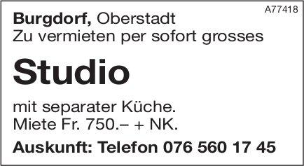 Studio, Burgdorf, zu vermieten