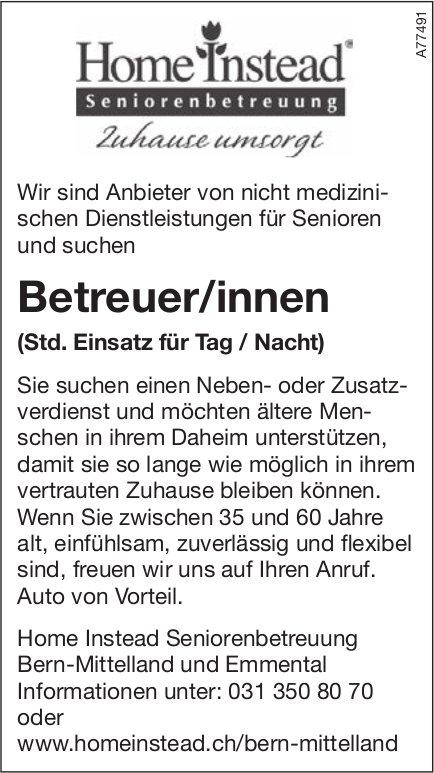 Betreuer/innen, Home Instead Seniorenbetreuung Bern-Mittelland & Emmental, gesucht