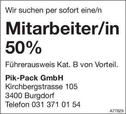 Mitarbeiter/in 50%, Pik-Pack GmbH, Burgdorf, gesucht