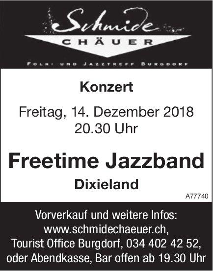 Konzert, Freetime Jazzband Dixieland, 14. Dezember, Schmide Chäuer, Burgdorf