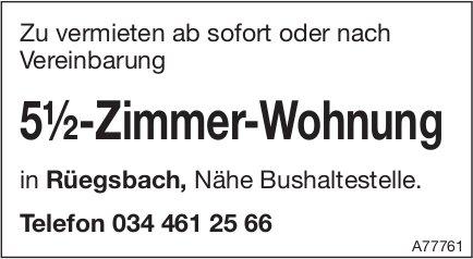 5.5-Zimmer-Wohnung, Rüegsbach, zu vermieten