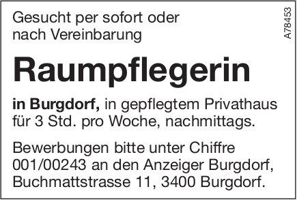 Raumpflegerin, Burgdorf, gesucht