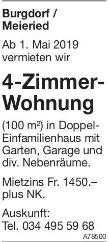 4-Zimmer-Wohnung, Burgdorf/Meieried, zu vermieten