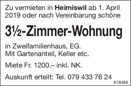 3.5-Zimmer-Wohnung, Heimiswil, zu vermieten