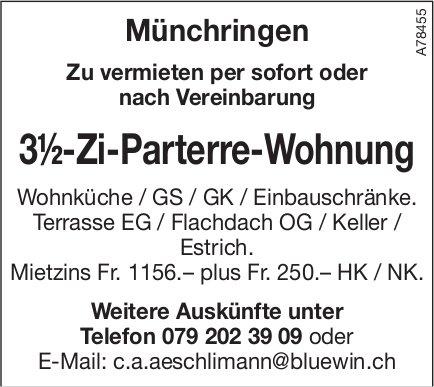 3.5-Zi-Parterre-Wohnung, Münchringen, zu vermieten