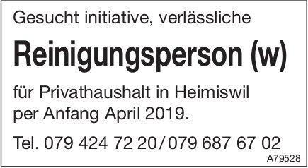 Reinigungsperson (w), Privathaushalt in Heimiswil, gesucht