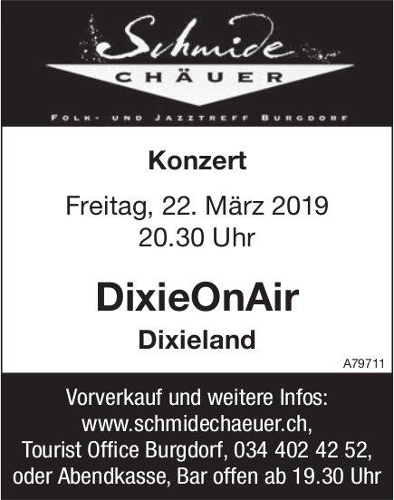 Konzert, DixieOnAir, Dixieland, 22. März, Schmidechäuer, Burgdorf