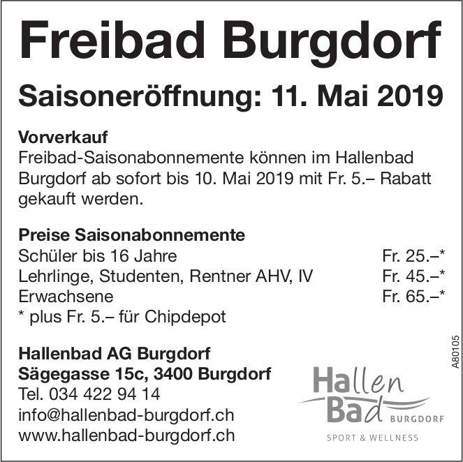 Freibad Burgdorf, 11. Mai, Saisoneröffnung