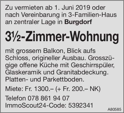 3.5-Zimmer-Wohnung, Burgdorf, zu vermieten