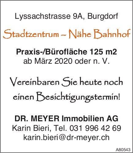 Praxis-/Bürofläche 125 m² ab März 2020 oder n. V., Burgdorf, zu vergeben