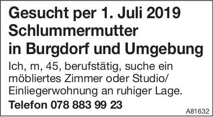 Schlummermutter in Burgdorf und Umgebung gesucht